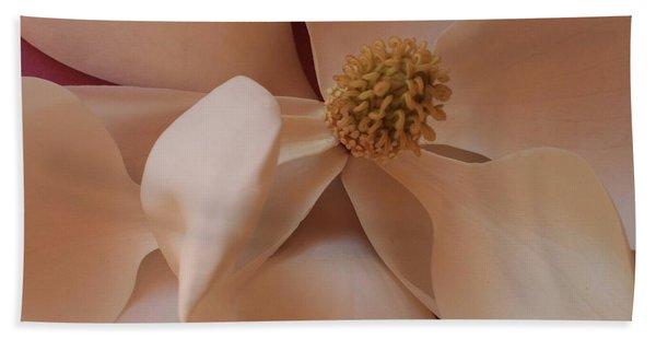 Sepia Magnolia Macro Hand Towel