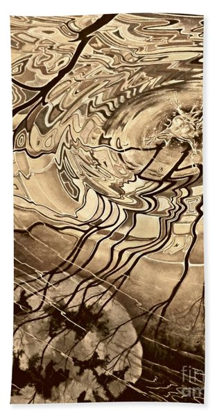 Sepia Ripples Bath Towel