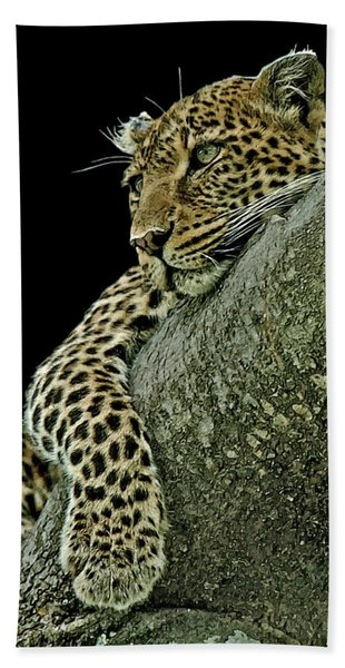 Bath Towel featuring the digital art Serengeti Leopard 2a by Larry Linton