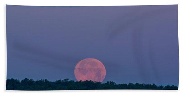 Setting Strawberry Moon Hand Towel
