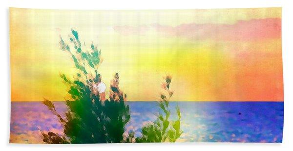 Pastel Colors On The Atlantic Ocean In Cancun Bath Towel