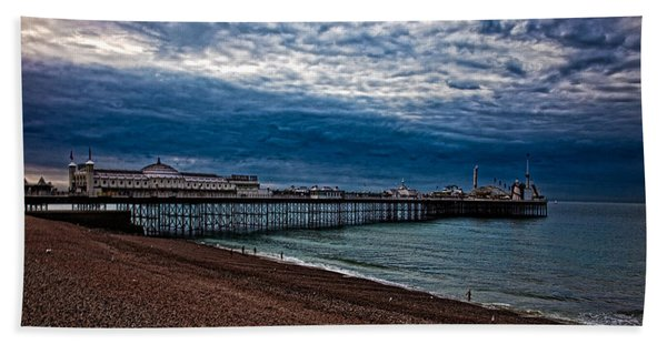 Seven Am On Brighton Seafront Hand Towel