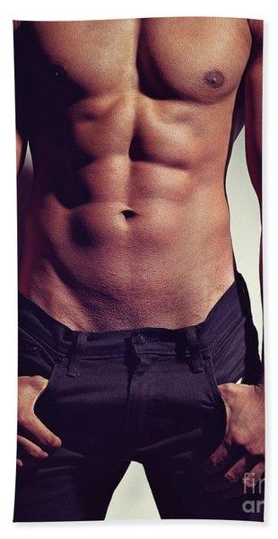 Sexy Male Muscular Body Bath Towel