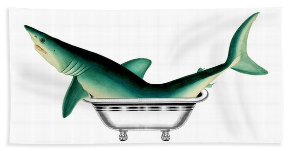 Shark In The Bath Hand Towel