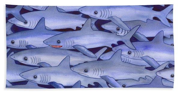 Sharks Hand Towel