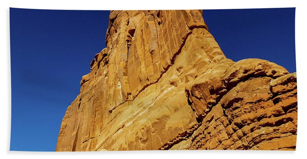 Sheer Rock Face, Arches National Park Hand Towel