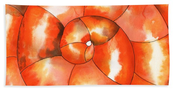 Shell Shock Watercolor Hand Towel