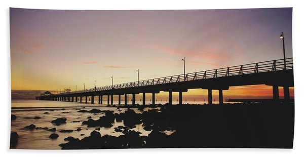 Shorncliffe Pier At Dawn Hand Towel