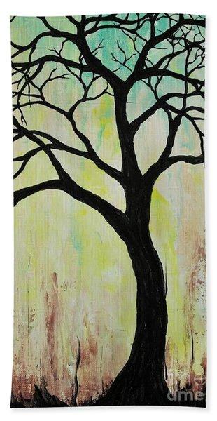 Silhouette Tree 2018 Hand Towel