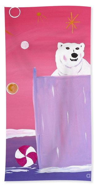 Silly Polar Bear Fun Bath Towel