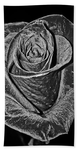 Silver Rose Hand Towel