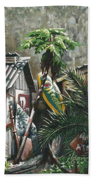 Skippers Smokehouse At Daylight Hand Towel