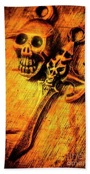Skull And The Sword Bath Towel