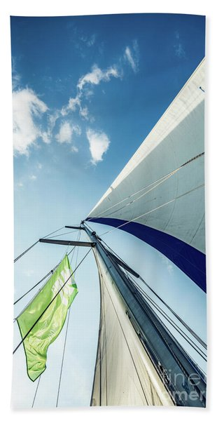 Sky Sailing  Hand Towel