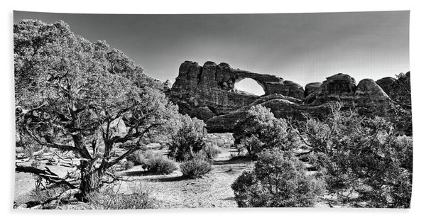 Skyline Arch In Arches National Park Hand Towel