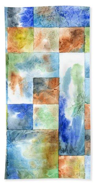 Slated Watercolor Bath Towel