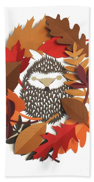 Sleeping Hedgehog Hand Towel