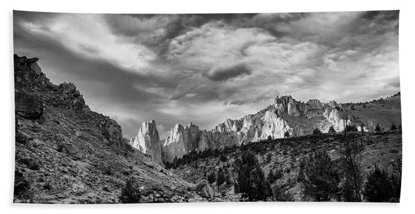 Smith Rock Bw Hand Towel