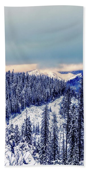 Snow Covered Mountains Hand Towel