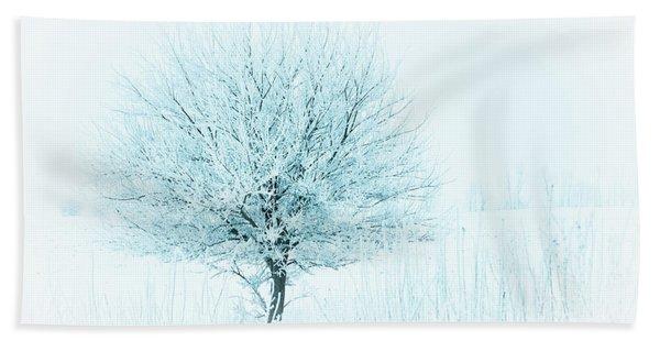 Snow Field Tree Hand Towel