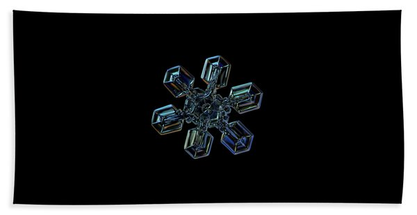 Snowflake Photo - High Voltage IIi Hand Towel