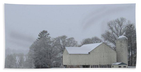 Winter White Farm Hand Towel