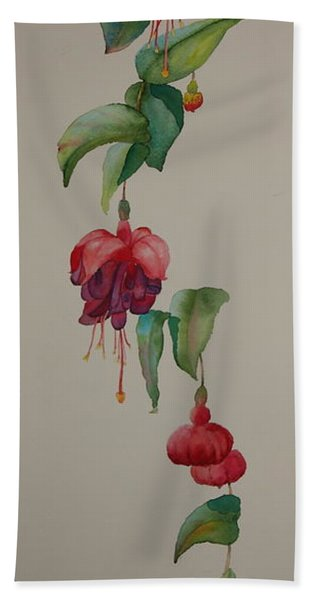 Hand Towel featuring the painting Social Climber II by Ruth Kamenev