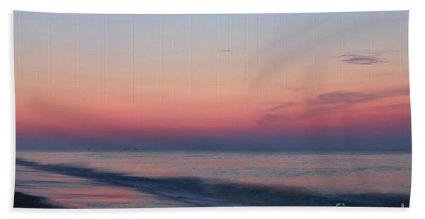 Soft Pink Sunrise Bath Towel