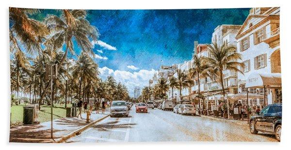 South Beach Road Hand Towel