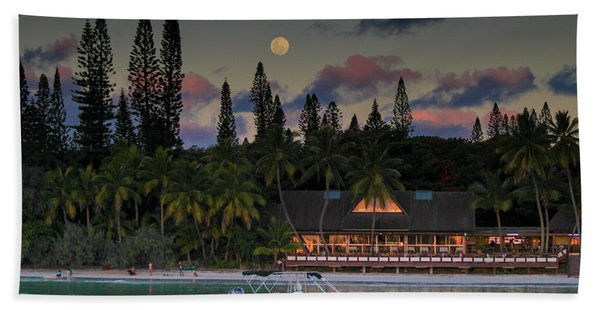 South Pacific Moonrise Hand Towel