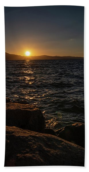 South Shore Sunset Hand Towel