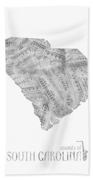 Soutih Carolina Map Music Notes Bath Towel