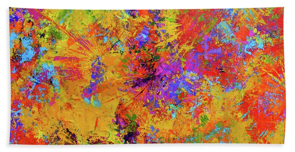Sparks Of Consciousness Modern Abstract Painting Bath Towel