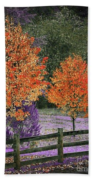 Spectral Autumn Bath Towel