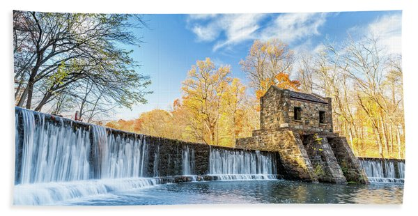 Hand Towel featuring the photograph Speedwell Dam Waterfall by Mihai Andritoiu