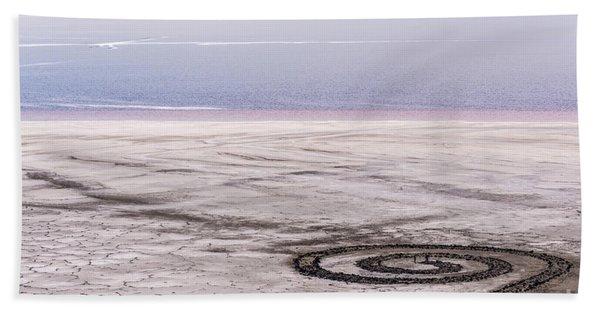 Spiral Jetty - Great Salt Lake - Utah Hand Towel