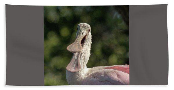 Spoonbill Talk Hand Towel