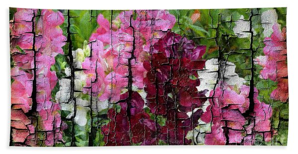 Bath Towel featuring the painting Spring Garden H131716 by Mas Art Studio