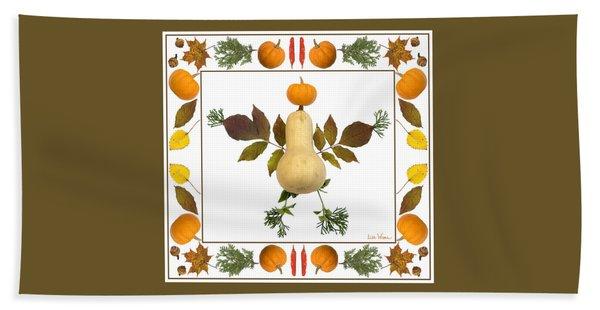Squash With Pumpkin Head Hand Towel