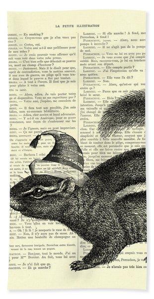 Squirrel With Hat Bath Towel