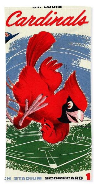 St. Louis Cardinals Vintage 1958 Scorecard Hand Towel
