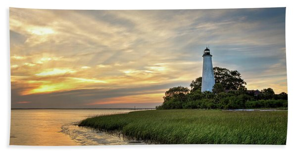 St. Mark's Lighthouse Hand Towel