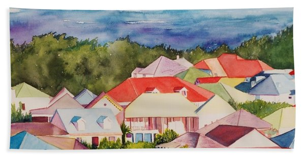 St. Martin Rooftops Hand Towel