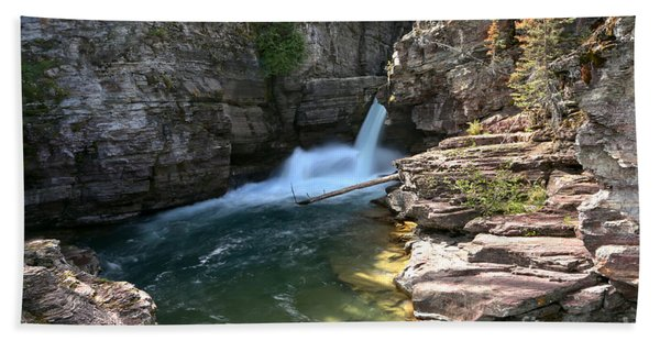 St Mary Waterfall Canyon Hand Towel