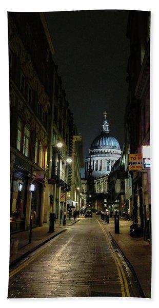 St. Pauls By Night Hand Towel