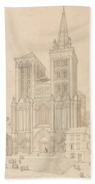 St. Peter At Lisieux, Normandy - West Front Hand Towel