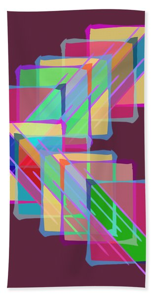 Bath Towel featuring the digital art Stained Glass by Bee-Bee Deigner