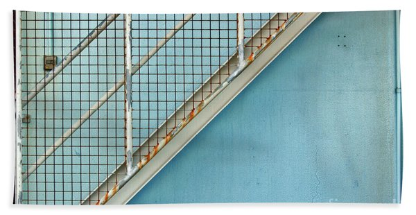 Stairs On Blue Wall Bath Towel