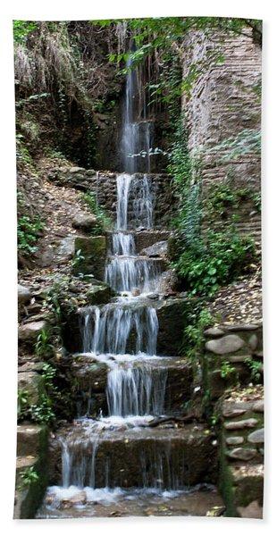 Bath Towel featuring the photograph Stairway Waterfall by Lorraine Devon Wilke