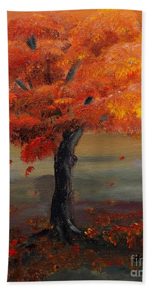 Stand Alone In Color - Autumn - Tree Hand Towel